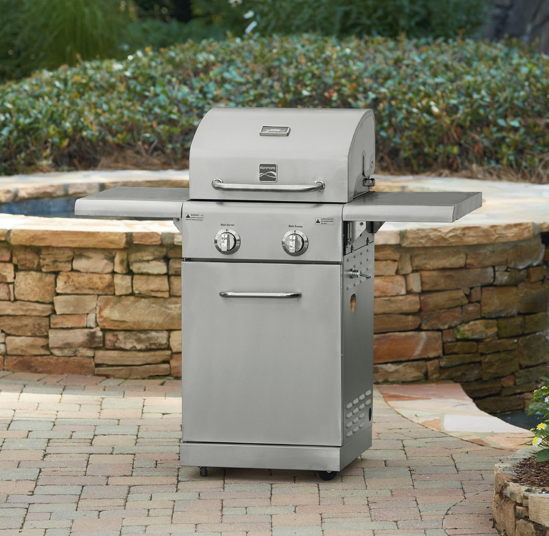 2 Burner Small Space Stainless Steel Gas Grill