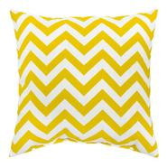 "Greendale Home Fashions 17"" x 17"" Outdoor Accent Pillows, Set of Two in Yellow Zig Zag at Sears.com"