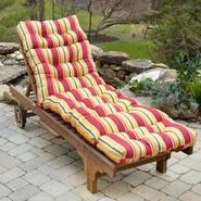 Greendale Home Fashions 72 in. Outdoor Chaise Lounger Cushion, Carnival Stripe at Kmart.com