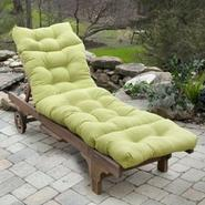 Greendale Home Fashions 72 in. Outdoor Chaise Lounger Cushion, Kiwi at Kmart.com