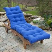 Greendale Home Fashions 72 in. Outdoor Chaise Lounger Cushion, Marine Blue at Kmart.com