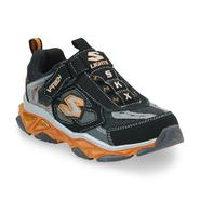 Skechers Boy's Black/Orange Sneaker Bosky at Sears.com