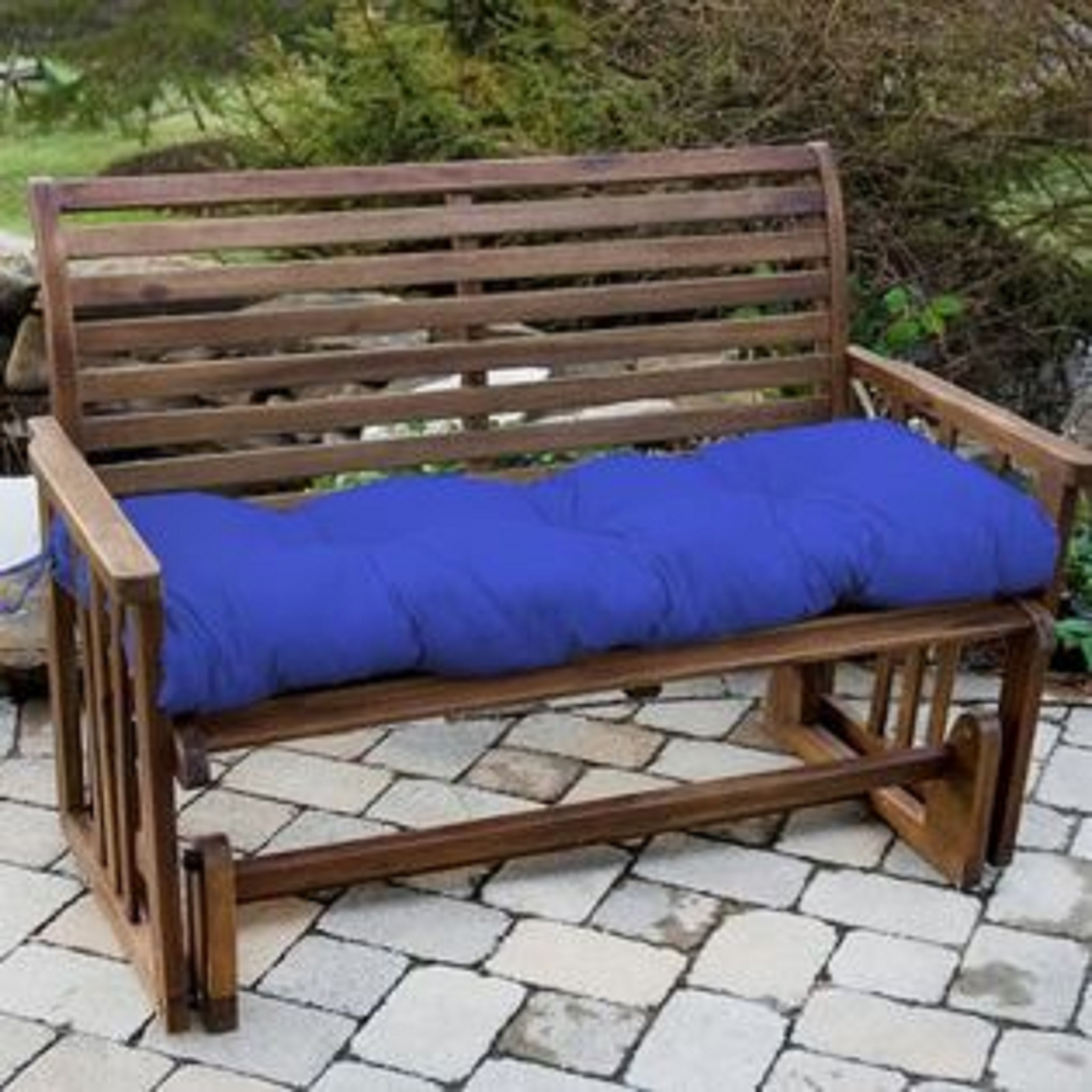 Greendale Home Fashions 51 in. Outdoor Bench Cushion, Marine Blue