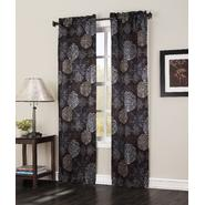 Jaclyn Smith Logan Black Medallion Print Darkening Panel Pair at Kmart.com