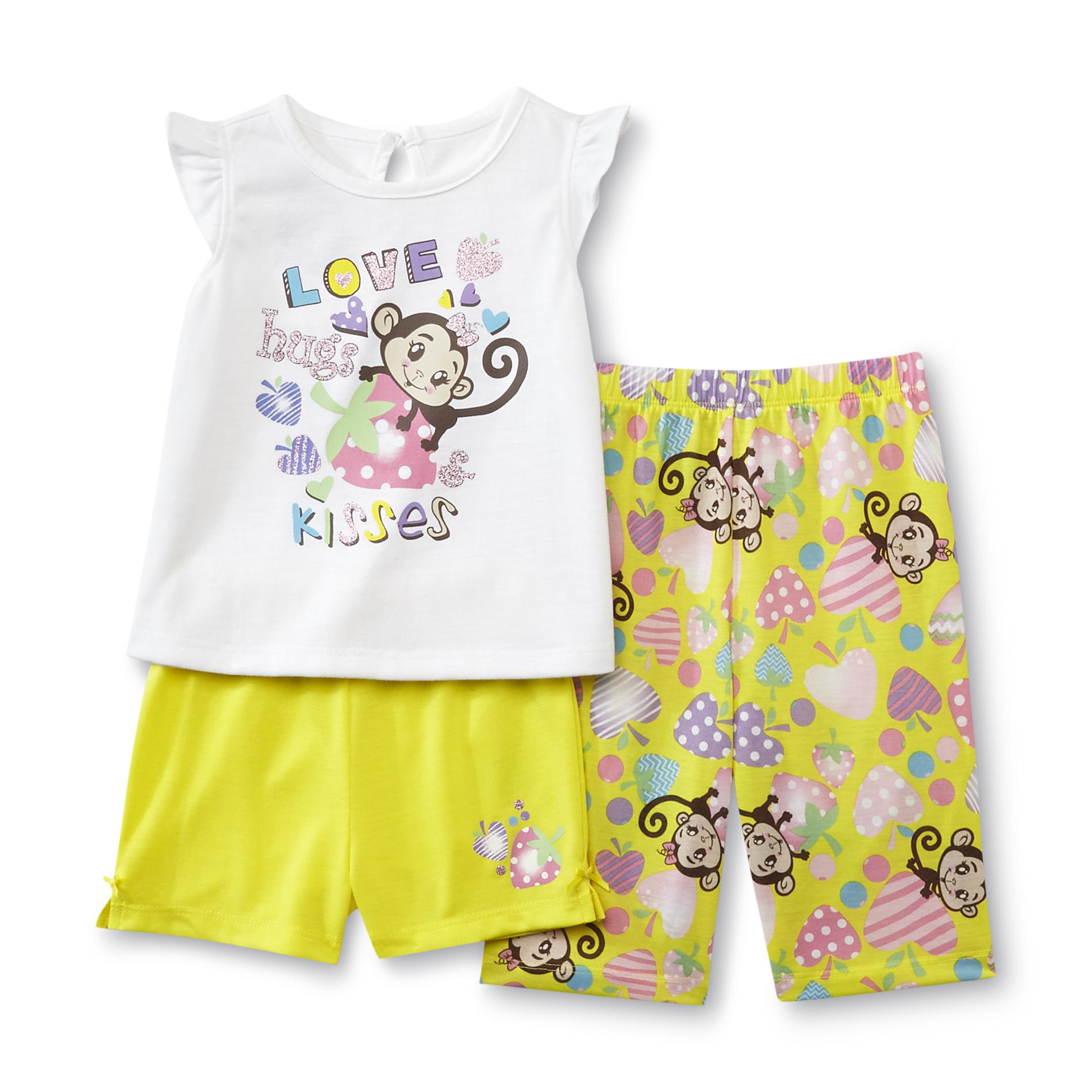 Infant & Toddler Girl's Pajama Top, Shorts &