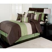 The Great Find Green, Brown and White Boston Bedding Set at Kmart.com