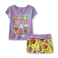 Joe Boxer Girl's Pajama Top & Shorts - Cupcakes at Kmart.com