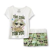 Joe Boxer Girl's Pajama Top & Shorts - Monkey Print at Kmart.com