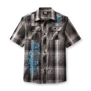 SK2 Boy's Graphic Button-Front Shirt - Plaid at Kmart.com