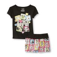 Girl's Pajama Top & Shorts - Animal BFFs