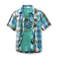 Route 66 Boy's Plaid Shirt & Graphic T-Shirt - Wildlife at Kmart.com