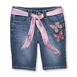 Route 66 Girl's Bermuda Shorts & Belt - Butterfly at Kmart.com