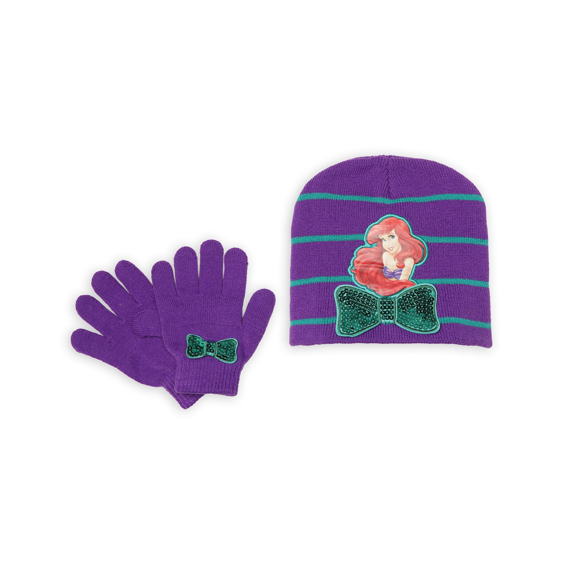 Disney  Princess Girl's Hat & Gloves - Ariel