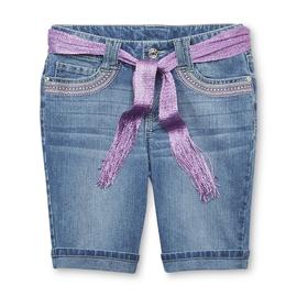Route 66 Girl's Cuffed Bermuda Shorts & Belt - Tribal Sparkle at Kmart.com