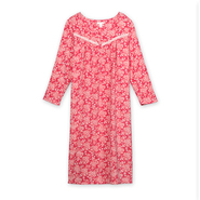 Pink K Women's Fleece Nightgown - Floral at Kmart.com