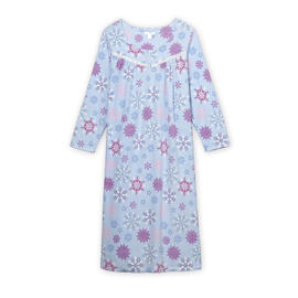 Pink K Women's Fleece Nightgown - Snowflakes at Kmart.com