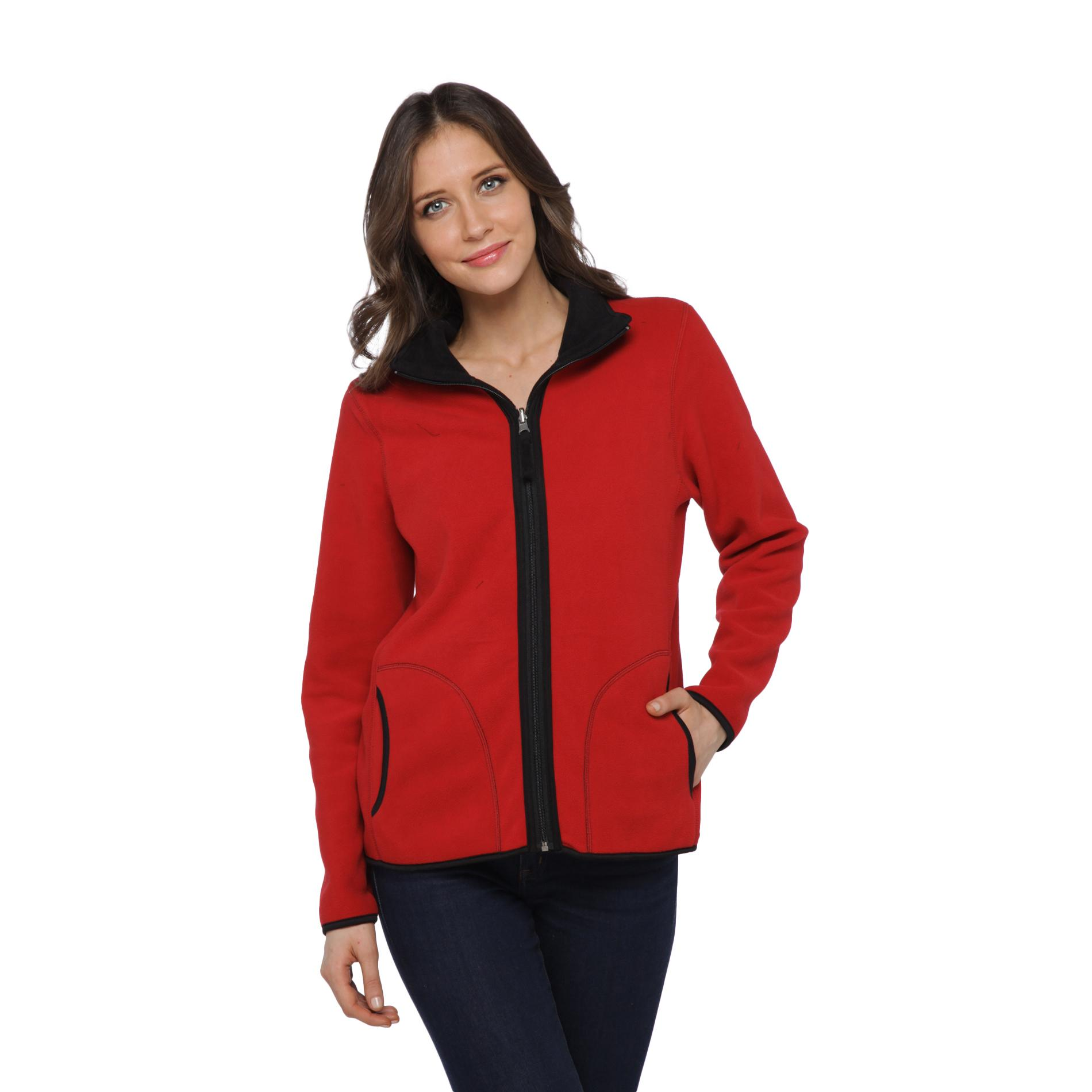 Laura Scott Women's Reversible Fleece Jacket at Sears.com