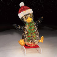 "Trimming Traditions 32"" 100 Light Sledding Icy Penguin Christmas Decoration at Kmart.com"
