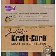 "Core'dinations Kraft Core By Tim Holtz 12""X12"" 24/Pkg Shattered at Kmart.com"