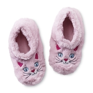 Joe Boxer Girl's Plush Slipper Socks - Kitty at Kmart.com