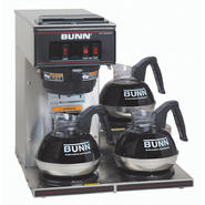 Bunn VP17-3 SS Pourover Commercial Coffee Brewer with Three Lower Warmers, Stainless Steel at Sears.com
