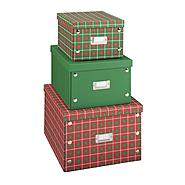 Essential Home 3-Piece Stackable Christmas Storage Boxes at Kmart.com