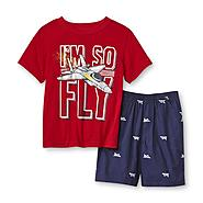 Toughskins Infant & Toddler Boy's Graphic T-Shirt & Shorts - Fighter Plane at Sears.com