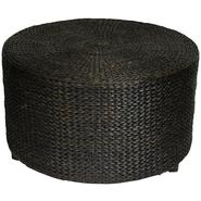 Oriental Furniture Rush Grass Coffee Table/Ottoman - Black at Sears.com