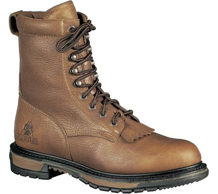 Rocky  Men's 8'' Ride Lacer Boot 6722 - Tan PitStop Leather
