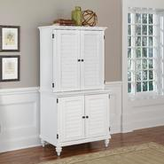 Home Styles Brushed White Bermuda Compact Computer Cabinet and Hutch at Sears.com