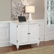 Home Styles Brushed White Bermuda Compact Computer Cabinet at Sears.com