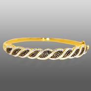 Chocolate Elegance Gold Over Bronze Chocolate Kite Bangle at Sears.com