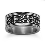 Steel Gothic Style Black Enamel Ring at Kmart.com