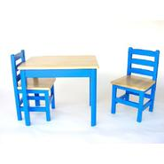 Apple Furniture Just For Kids Table and Chairs Set - Blue and Natural, Model# 47857 at Kmart.com