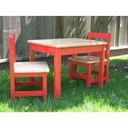 Apple Furniture Just For Kids Table and Chairs Set - Red and Natural, Model# 47856 at Kmart.com