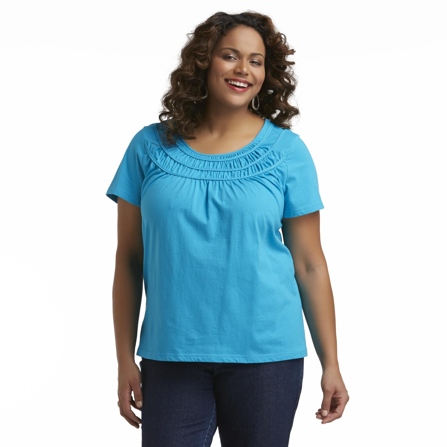 Basic Editions Women's Plus Scoop Neck Top at Kmart.com