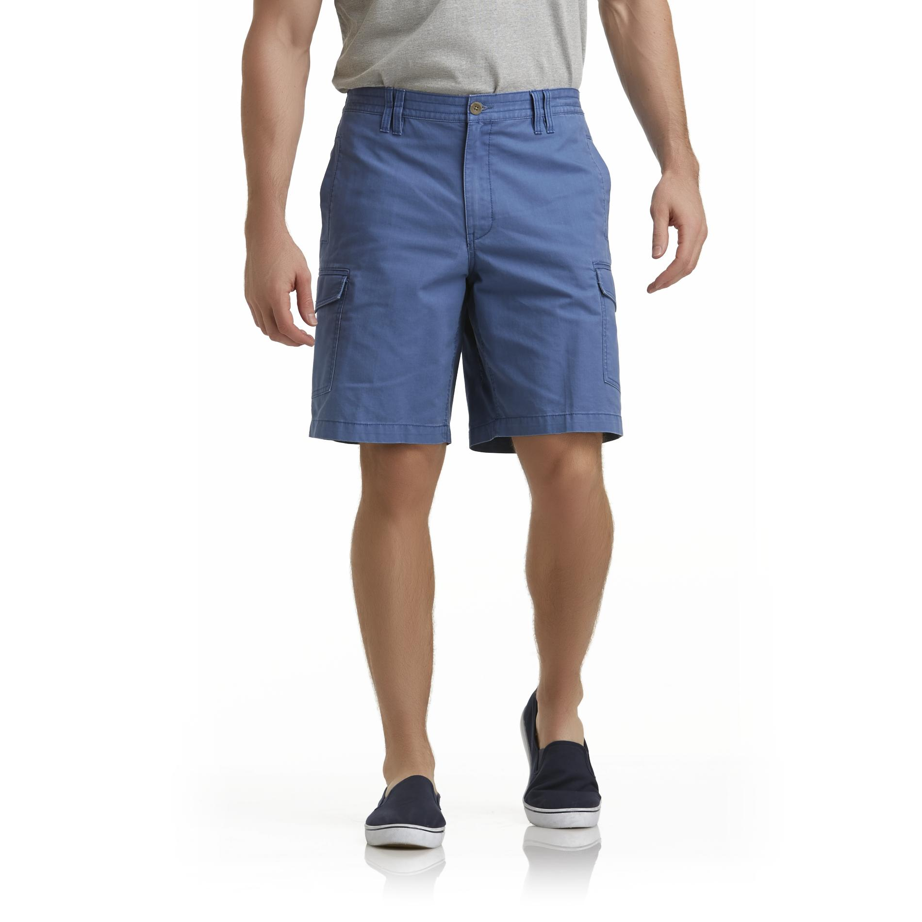 Basic Editions Men's Woven Cargo Shorts - Herringbone at Kmart.com