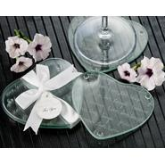 "Artisano Designs ""Live Love Laugh…Forever"" Heart Glass Coasters (Set of 2) [Pack of 25] at Sears.com"