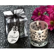 "Artisano Designs ""Frosted Elegance"" Black and White Tea Light Candle Holder (Set of 4) [Pack of 6] at Kmart.com"