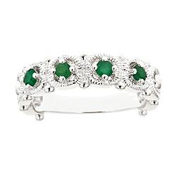 Ladies Sterling Silver 4 Stone Genuine Emerald Ring at Kmart.com