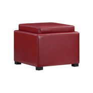 Emerald Home Red Square Cube Storage Ottoman at Kmart.com