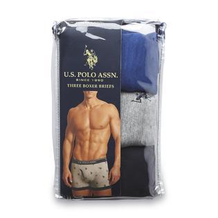 U.S. Polo Assn. Men's 3-Pack Boxer Briefs