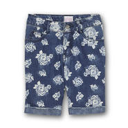 Canyon River Blues Girl's Cuffed Denim Bermuda Shorts - Floral at Sears.com