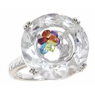 Ladies Sterling Silver Crystal Quartz Floater Ring at Sears.com