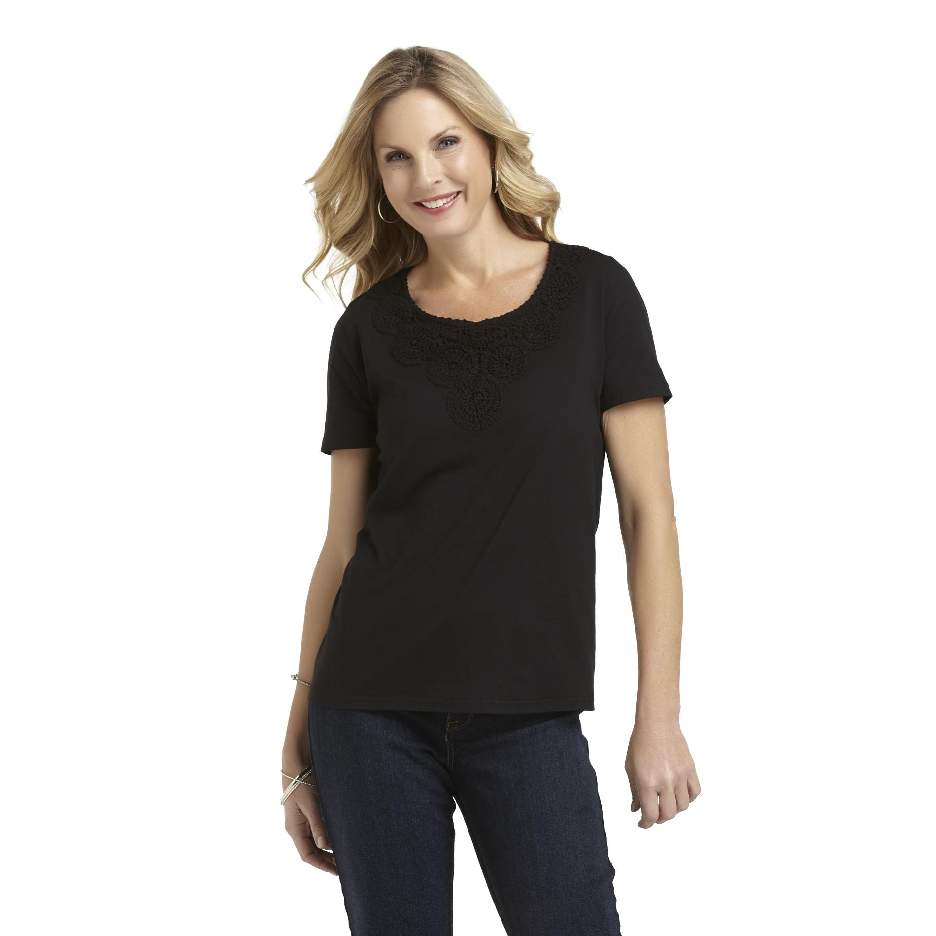 Basic Editions Women's Embroidered T-Shirt at Kmart.com