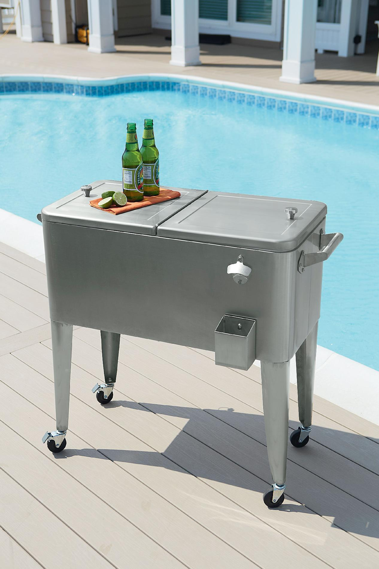 Garden Oasis 80qt Stainless Steel Patio Cooler - Outdoor Living - Patio  Furniture - Specialty Accessories - Garden Oasis 80qt Stainless Steel Patio Cooler - Outdoor Living