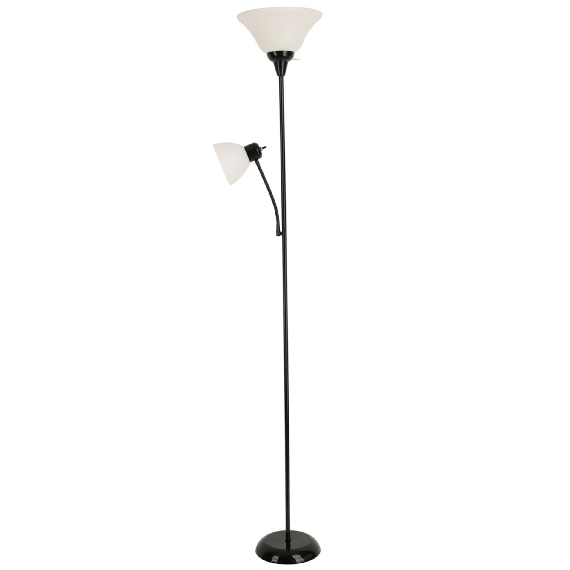 Black Painted Father Son Floor Lamp
