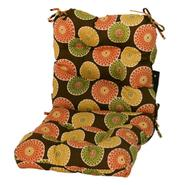 Greendale Home Fashions Outdoor Seat/Back Chair Cushion, Flowers on Chocolate at Kmart.com