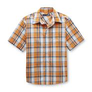 Basic Editions Boy's Woven Short-Sleeve Shirt - Plaid at Kmart.com
