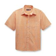 Basic Editions Boy's Woven Short-Sleeve Shirt - Checker at Kmart.com